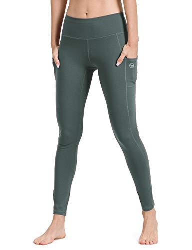ALONG FIT Gymnastik-Leggings mit Tasche, Yoga-Hose, Netzstoff, nicht durchsichtig, hohe Taille, Fitness-Strumpfhose für Damen Gr. XX-Large, türkis - Taille Unterstützung Strumpfhosen