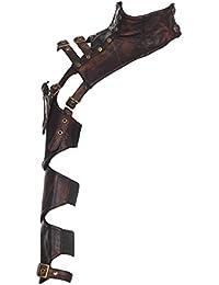 Manche et col modulable avec sangle imitation cuir steampunk RQBL
