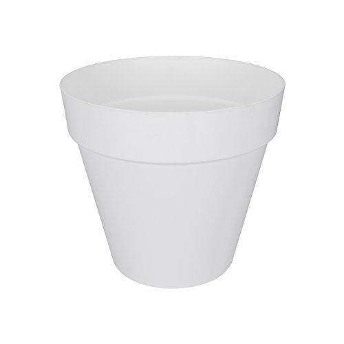 Elho loft urban rund Blumentopf, 25 cm, weiß, 24.5 x 24.5 x 22.2 cm
