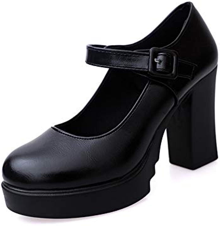 UENGF Talons Haut Haut Talons  Chaussures De Bureau en Cuir À Talons Hauts Escarpins Femme Pompes 7d2bf6