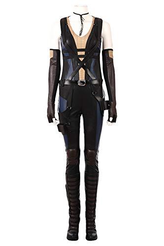 Karnestore Domino Neena Thurman Outfit Cosplay Kostüm Damen XXXL (Cosplay Kostüm Domino)