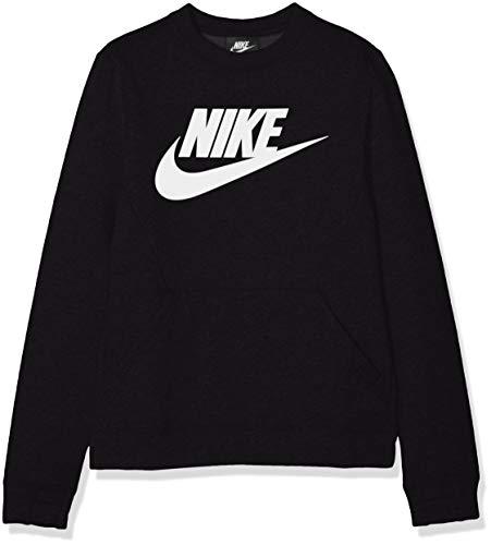 Nike Jungen Sportswear Club Fleece Sweatshirt, Black/White, S