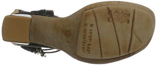 A.S.98 - Calmora, Scarpe con cinturino Donna Schwarz (NERO/NERO/Grano/Grano)
