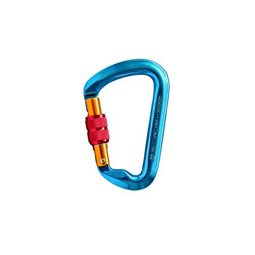 Karabiner D Form Gefederte Tor Aluminium Karabiner Für Zuhause, Rv, Camping, Angeln, Wandern, Reisen Und Schlüsselbund (Color : Blue Yellow) -