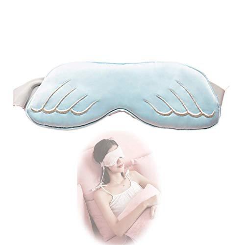 YCZX Beheizte Augenmasken,Müdigkeit Lindern Augenschutz Schlafmaske,Heizung Augenmaske,Dampfaugenmaske Timing-Temperaturregelung,für Augentaschen, Ödeme Und Müde Augenmasken (Blue)