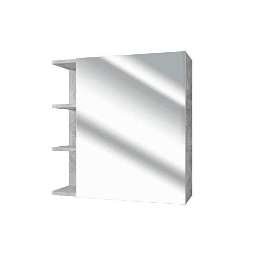 VICCO Spiegelschrank Fynn 62 cm Beton-Grau - Spiegel Hängespiegel Badspiegel -