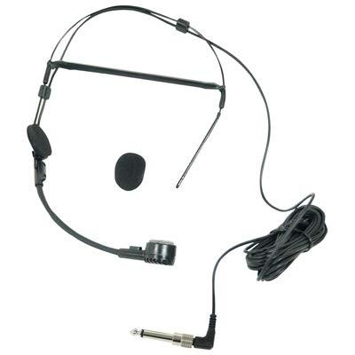 Dynamisches Mikrofon Headset mit 3,5 mm Klinke, 6,35 mm Adapter und Wind Sock Electrovision A090AG