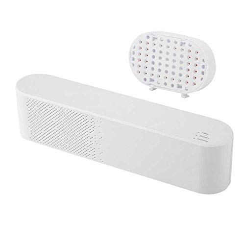 DokFin Kompakter Luftreiniger, Pet Smart Deodorizer Tragbarer Geruchsbekämpfender Plug-In-Luftreiniger mit negativen Ionen -