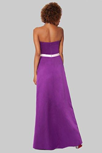 SEXYHER Herrliches bodenlangen Strapless Brautjungfern formales Abend-Kleid - EDJ1605 Violett