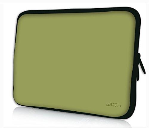 Luxburg® Design Laptoptasche Notebooktasche Sleeve für 13,3 Zoll, Motiv: Olive