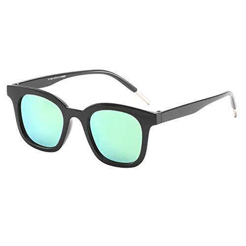 CANDLLY Brille Damen, Unisex koreanische Version Klassisch Polarisierte Sonnenbrille Verspiegelte Linse Leichte übergroße Brillen Zubehör(Grün,One Size