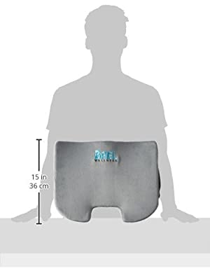Bael Wellness Seat Cushion - For Lower Back Pain, Coccyx and Sciatica Pain, Orthopedic Grade Firm Support- Corrects Postures Naturally. Perfectly Sized for Any Chair and Auto Seat. - low-cost UK light shop.