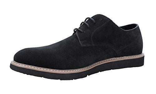 Scarpe uomo casual nero scamosciate invernali polacchine shoes eleganti (42)