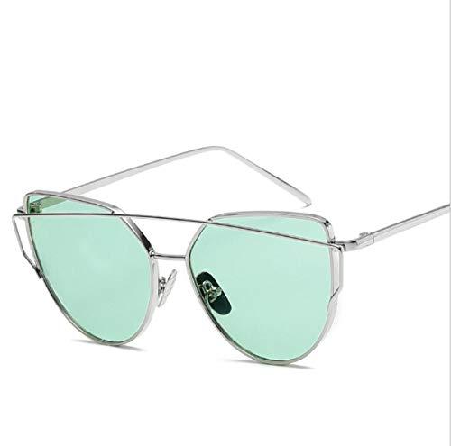 ZTMN Sonnenbrille Brille Sonnenbrille Strand Sonnenbrille Frauen Metall Farbe Brillen Vintage Mode (Farbe: q)