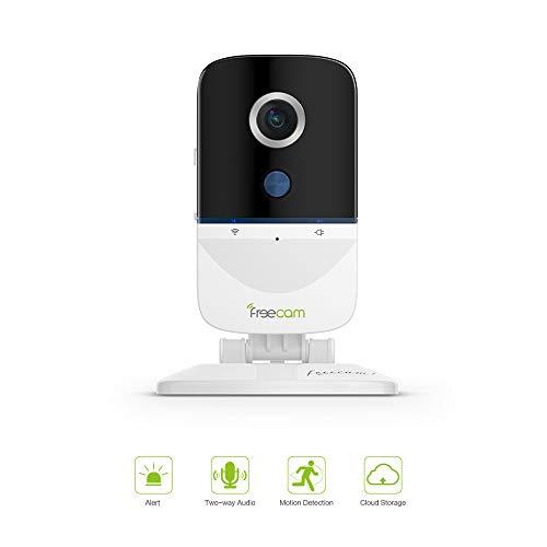 Freecam Caméra de sécurité intérieure 1080P,Alarme vidéo,Surveillance de sécurité IP,détection de Mouvement,Audio bidirectionnel pour Maison/Bureau/Bébé/Baby-Sitter/Animal de Compagnie,Service Cloud