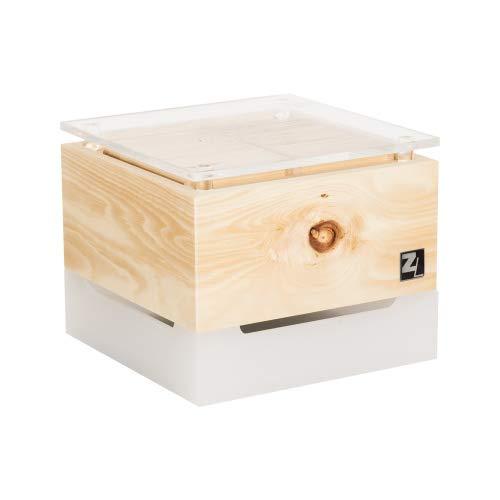 ZirbenLüfter Cube Mini cristall für 15 m2, natürlicher Luftbefeuchter und Luftreiniger
