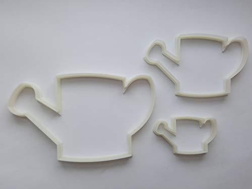 Lot de 3 emporte-pièces en forme d'arrosoir de jardinage pour biscuits, pâtisserie, fondant, pochoir, pâte à modeler, plantes d'eau, serre