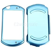 SLB Works Brand New Aluminum Flannel Metal Protective Hard Case Skin Cover For Sony PSP GO Blue