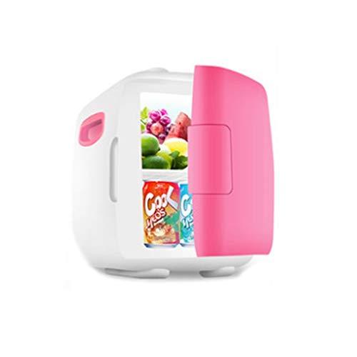 schrank Auto Kühlschrank, Auto nach Hause 5L Camping heißen und kalten Mini-Kühlschrank Mini Kühlschrank Kühler (Color : Pink) ()