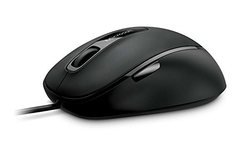 Microsoft Comfort Mouse 4500 - Ratón óptico (USB, 1000 DPI, 5 botones), negro