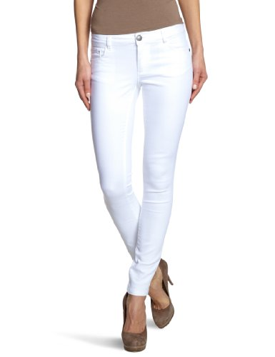 ONLY Damen Skinny Jeanshose Normaler Bund 15071626/Regular Ultimate Colour Noos, Gr. 36/34 (S), weiß (WHITE) (Damen Weiße Hosen)