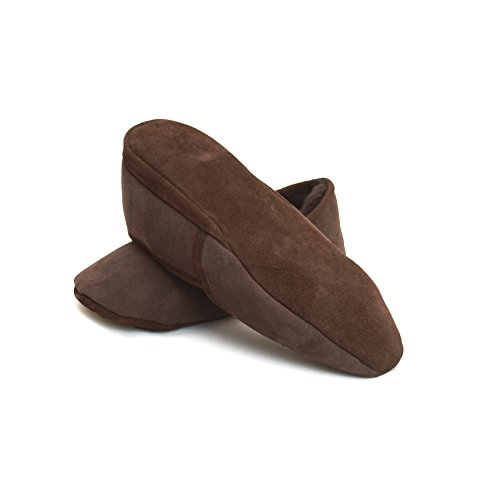 Eastern Counties Leather Chaussons en peau de mouton - Homme Chocolat