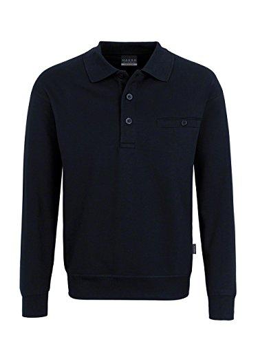 Hakro Herren Pocket-Polo-Sweatshirt Premium # 457 Schwarz