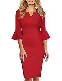 KOJOOIN Damen Etuikleid Business Kleider Bodycon Cocktailkleid Bleistiftkleid Geschäft Figurbetonte Knielang Kleider(Verpackung MEHRWEG)