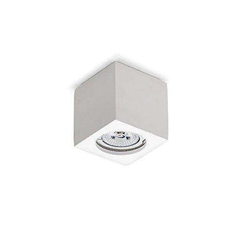 Foco de techo de yeso en forma de cubo, blanco, posibilidad de...
