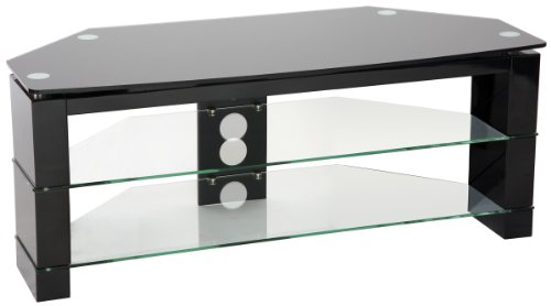 Peerless Manhattan High Gloss Coner Black TV Stand