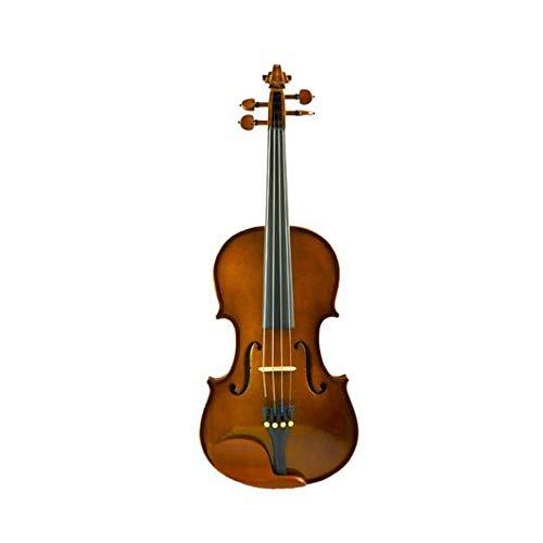 Qiaoxianpo01 Violine, handgefertigt aus massivem Holz Tiger Pattern spielen Musikinstrument, Advanced Grading Erwachsene Kinder üben Test Violine (1/8-4/4),Exquisite Verarbeitung (Size : 4/4)