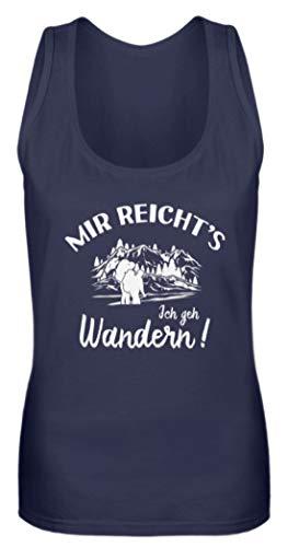 shirt-o-magic Berge: Ich GEH Wandern! - Frauen Tanktop -M-Dunkel-Blau -