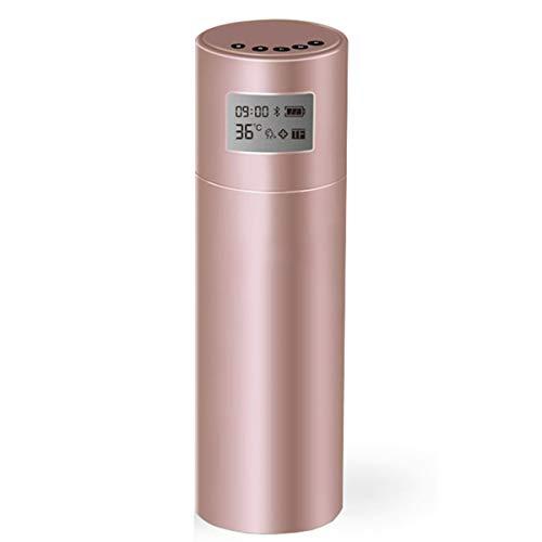 WY1688 Creative Intelligente Tasse de Musique Bluetooth LED Affiche rappelle Boisson Eau Voiture Tasse en Acier Inoxydable