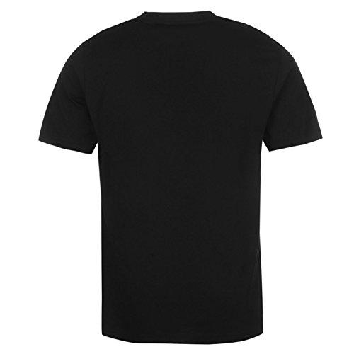 Hot Tuna Herren T Shirt Kurzarm Baumwolle Print Gerippter Rundhals Freizeit Schwarz Original