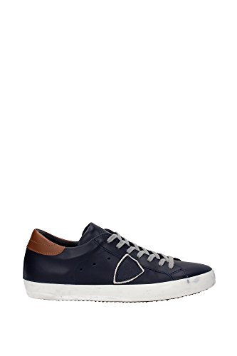 CLLUVU13 Philippe Model Sneakers Homme Cuir Bleu Bleu