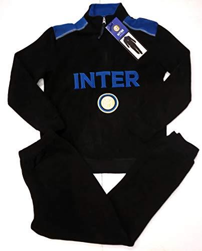 Inter Schlafanzug, FC International, Fleece, Homewear, Schwarz, 12 Jahre