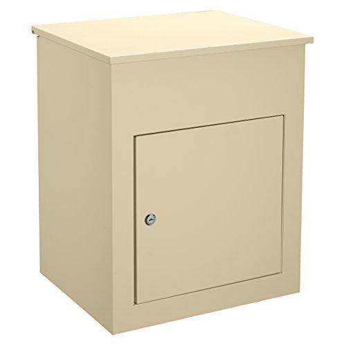 Harima Parcel Drop Box | Eingehende Lieferungen Erhalten, wenn Niemand zu Hause ist | Große Wasserdichte Abschließbare Sichere Paketbox | 43,7 x 34,6 x 58 cm | Briefkasten mit Paketfach | Creme