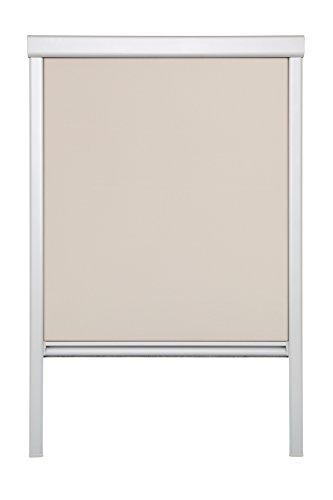 Lichtblick Dachfenster-Rollo Skylight, 97,3 x 116,0 cm (B x L) in Creme, 100 {529b4d0858274ea1dfbd591cc072a22a0a8e7af6ec17170d3a51aec0a3bb63f7} Verdunkelung, Thermo-Rollo für Velux-Fenster, Sonnen-, Hitze- & Sichtschutz (S08)