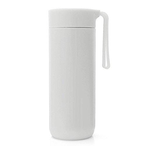 TAPCET 400ml Weißes Reisebecher Vakuum Thermosflasche Edelstahl Isolierflasche Trinkflasche Becher Unten mit Saugnäpfen Für Büro Schule Fitness Outdoor Sport - 6