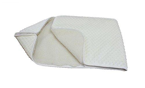 Weiß KINDER BABY Kuscheldecke Wickeln Wickeltisch Decke Wolle Schlafsack für Neugeborene Baby