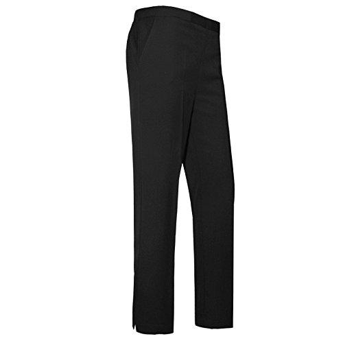 "Women Ladies Trousers Classic Pants Girls School Uniform Half Elasticated Waist Office Bottoms UK 10-24 Leg Length 25"" 27"" 29"""