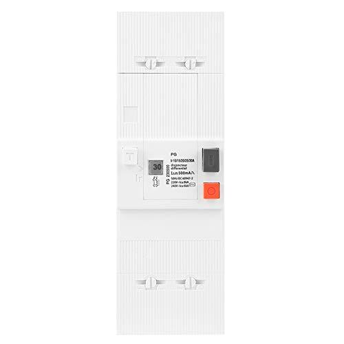 Zerone Disyuntor, 10-30 A 2 polos 50 Hz/60 Hz Interruptor de aire...