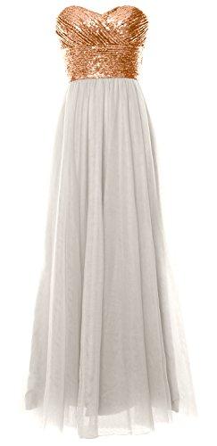 MACloth - Robe - Trapèze - Sans Manche - Femme Rose Gold-Ivory