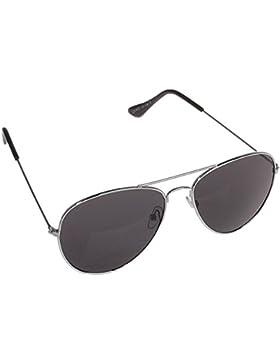 Gafas de sol de estilo aviador con bisagra con resorte, varios colores Silberer Rahmen / Schwarz Gläser Talla...