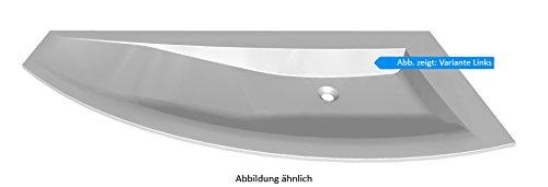 PURIS Crescendo Glaswaschtisch, Quarzitgrau/SWG114L/R83/B: 140 cm