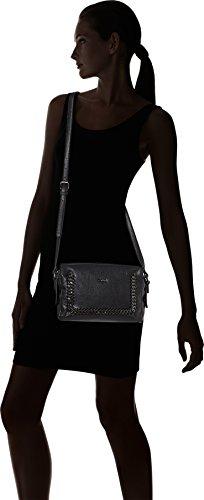 Gaudì Damen Crossbody-linea Agata-cm.25x18x6 Henkeltasche, 25x18x6 Cm Nero (black)