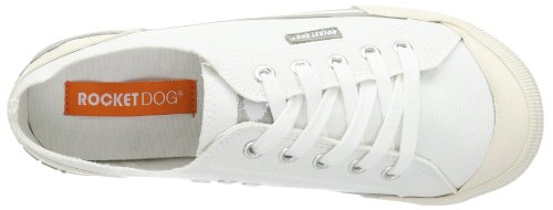 Rocket Dog Jazzin' Sports Damen Sneaker Low-top Weiß (8A canvas white RO68)