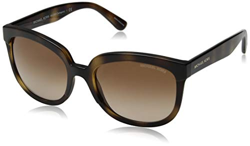 Michael Kors Damen PALMA 333613 55 Sonnenbrille, Dark Tortoise/Browngradient,