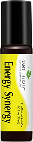 Ginger Essential Blend (Energy Synergy Pre-Diluted Essential Oil Roll-On 10 ml (1/3 fl oz). Ready to use! by Plant Therapy Essential Oils)