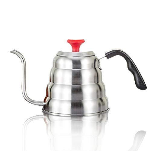 Kaffeekanne Handbrüh Kaffeekessel Edelstahl Schwanenhals Elektrisch Wasserkessel Mit Thermosmeter...